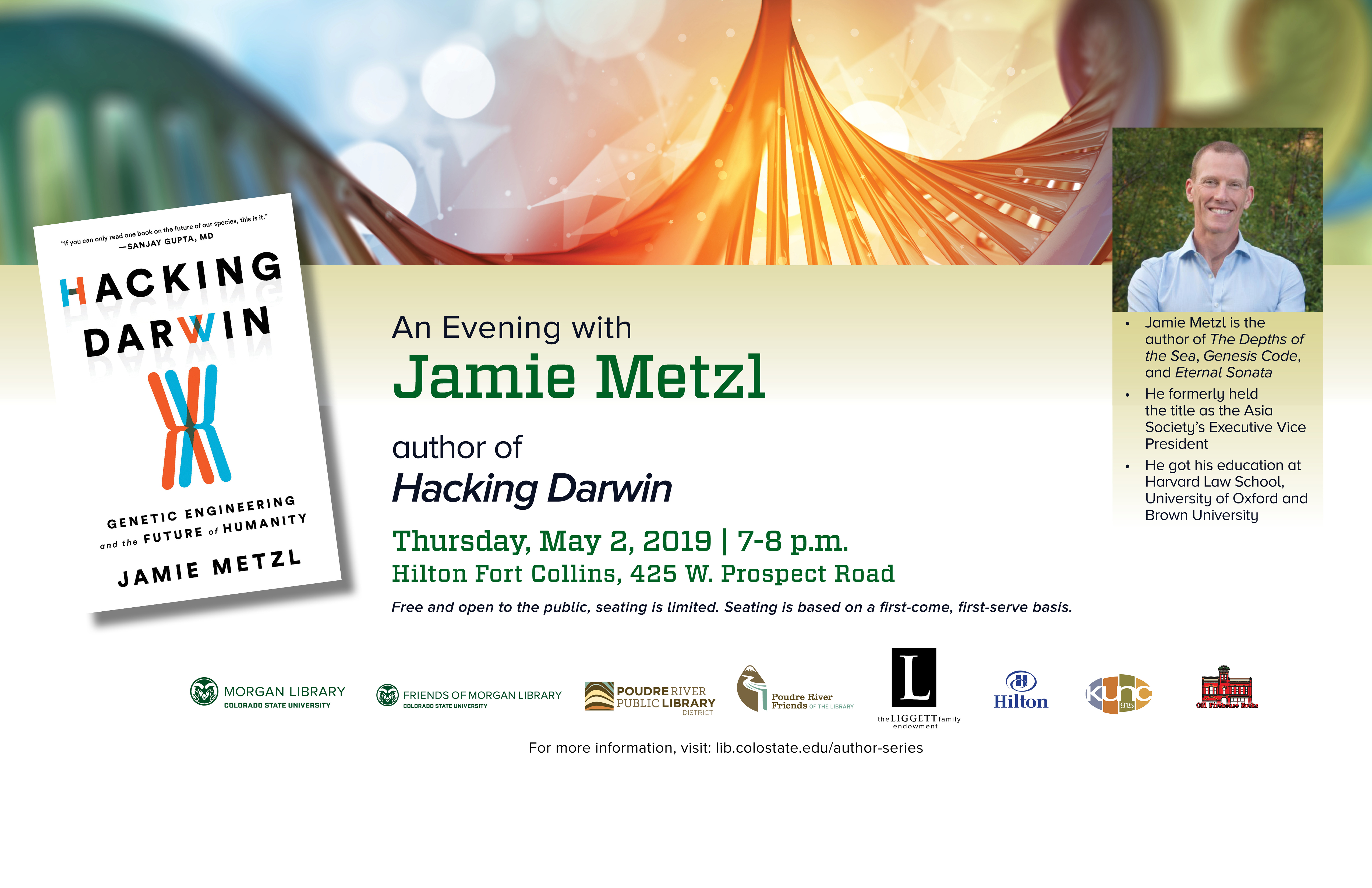 An Evening with Author Jamie Metzl,