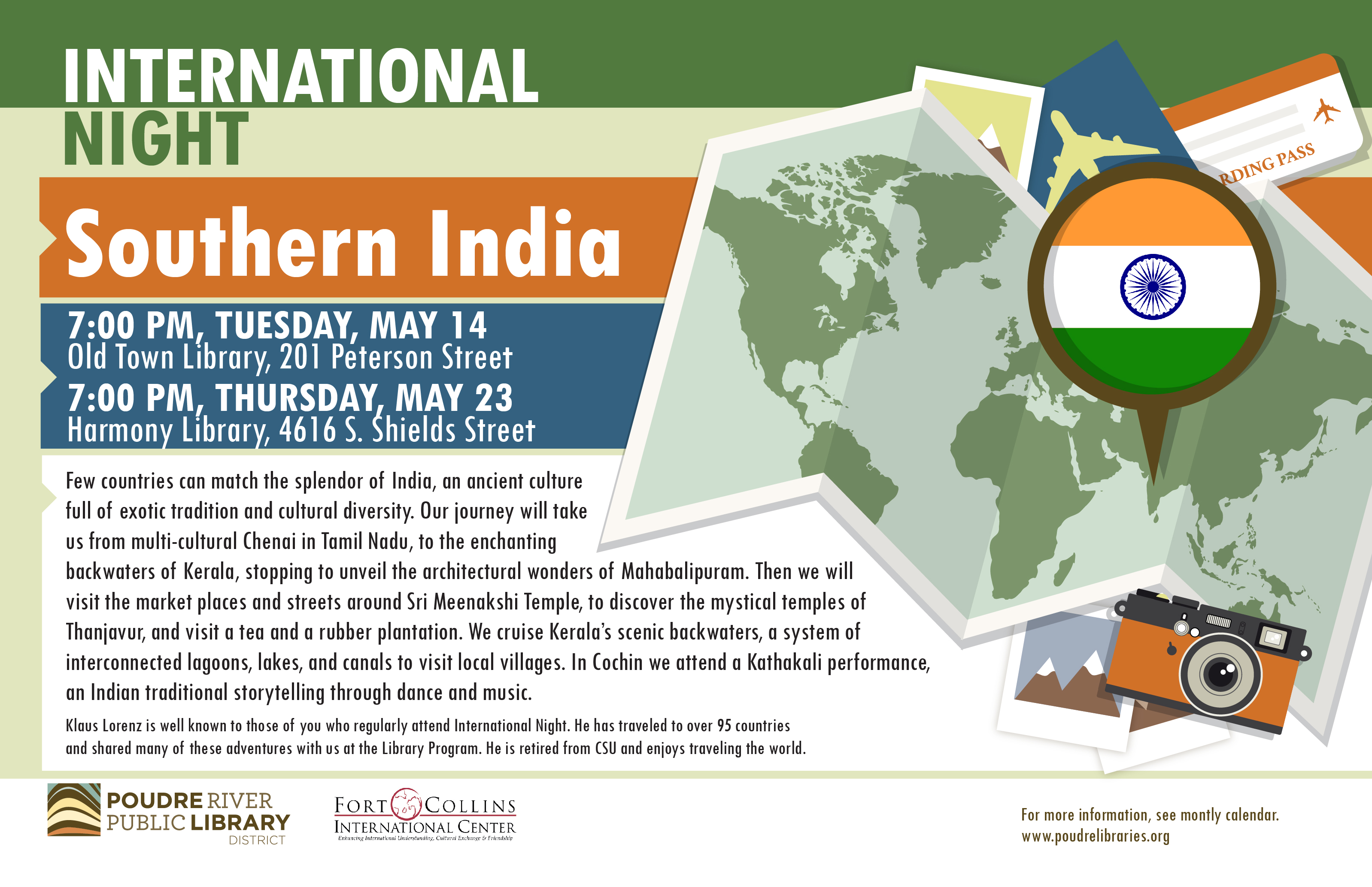 International Night: Southern India - Downtown Fort Collins